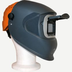 masque DC1 105 x 50 mm avec casque de chantier orange
