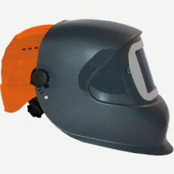 masque DC1 110 x 90 mm avec casque de chantier orange